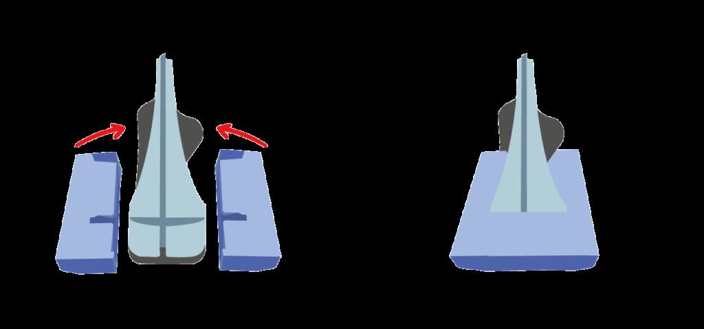 Schema d'un moule de protection